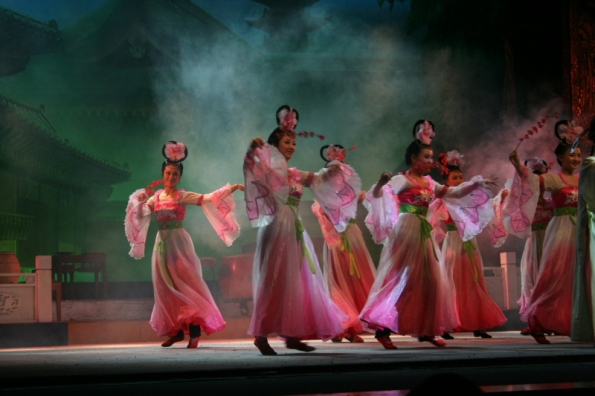 Dancers in the Sichuan Opera